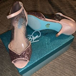 Betsey Johnson blush glitter heel. Never worn